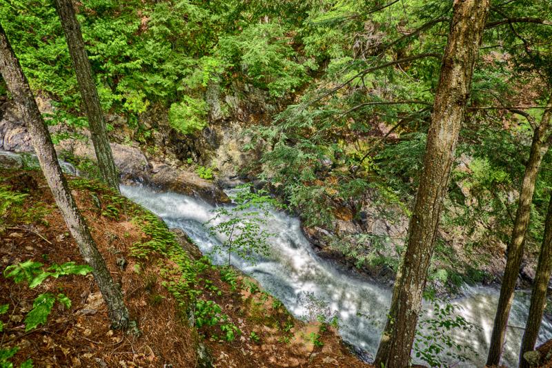 Parc des chutes de Ste-Ursule – Création de filé d'eau