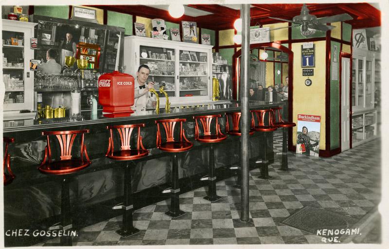 Colorisation – Chez Gosselin (Kenogami) 1er février 1938 (travail en cours)