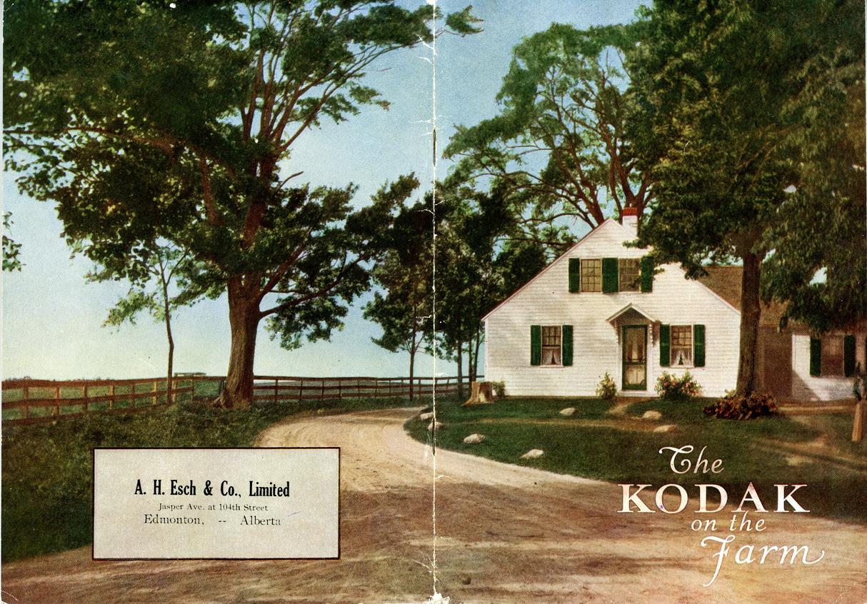 Kodak à la ferme en 1917