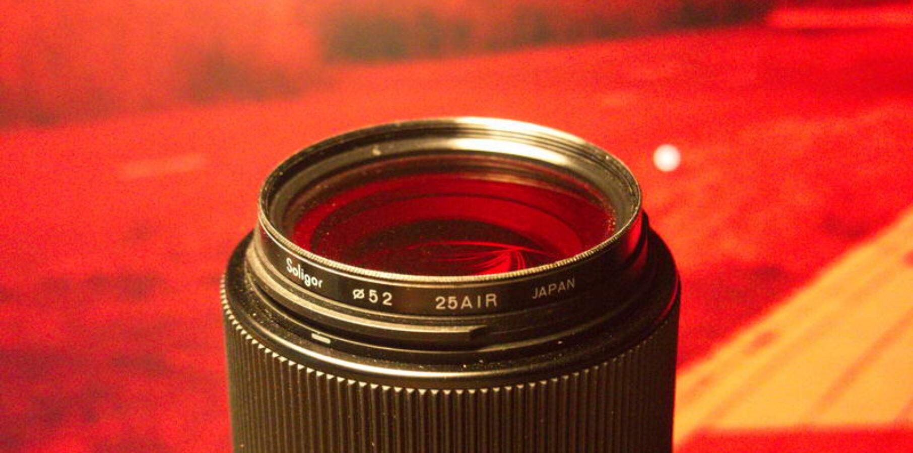 Exemple filtre rouge en noir et blanc