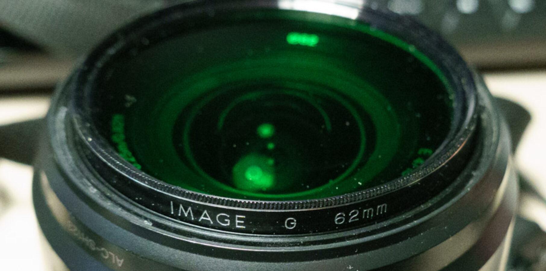 Exemple filtre vert en noir et blanc